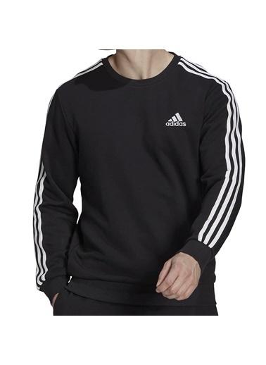 adidas M 3S Ft Swt Erkek Sweatshirt Siyah